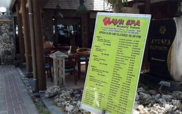 Sanur Spa - Ayu Spa : Front View