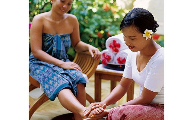 Spa Pamuteran - Parwathi Spa : foot bath