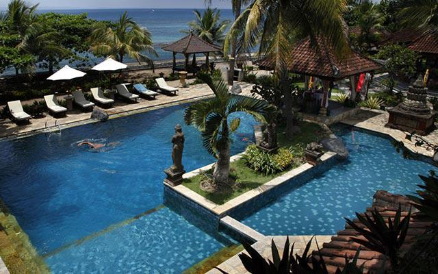 Spa Bali - Jaya Spa at Candidasa : swiming pool