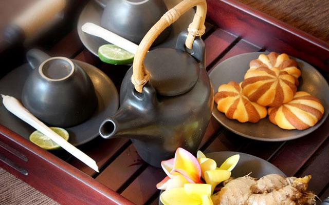 Spa Bali - Rama Spa at Ramayana Hotel Kuta : herbal tea